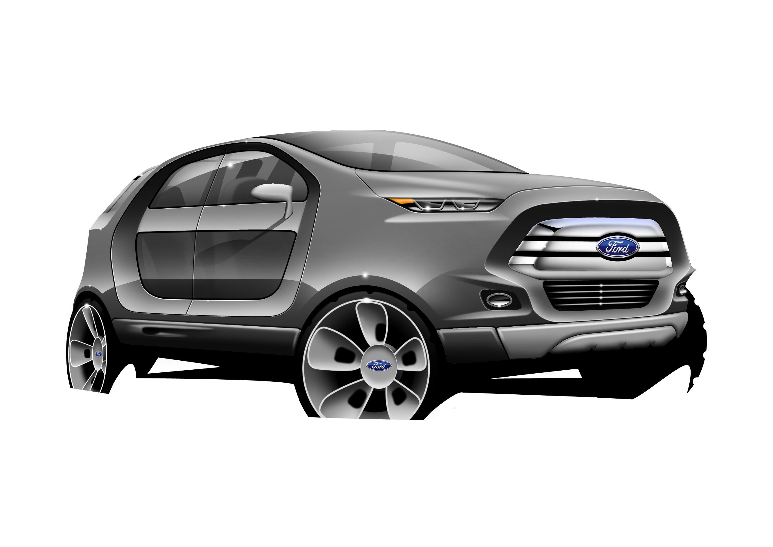 Render digital ford ecosport 2022