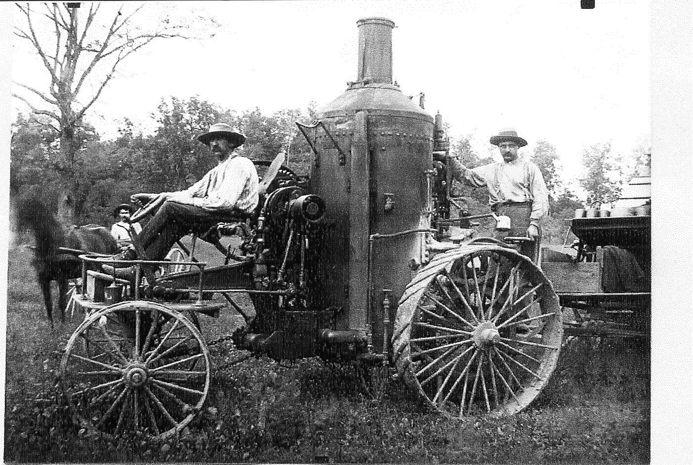 life in the 1800s photos | Image of threshing machine. A ...