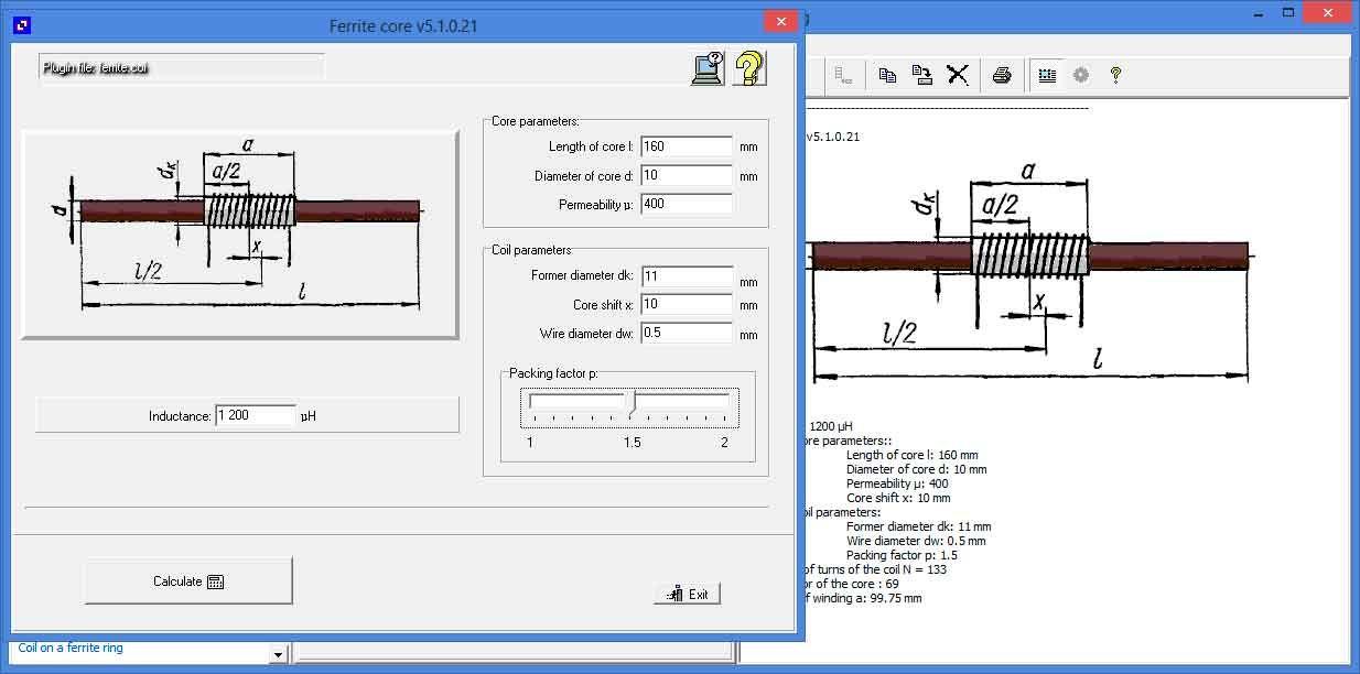 Coil32 - Ferrite torroid calculator | Online calculator