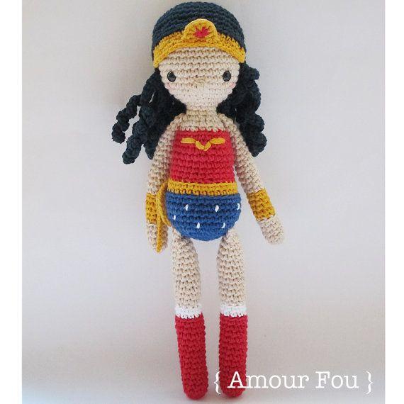 Wonder Woman - Crochet Pattern by {Amour Fou} | Super Hero Lovers ...