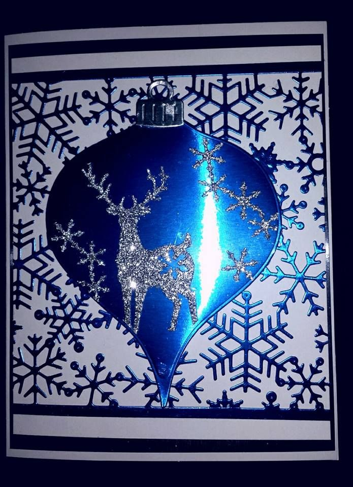 A Handmade Christmas Card Made With Unbranded Dies With A Deer And Snowflakes Christmas Cards To Make Christmas Cards Christmas Cards Handmade
