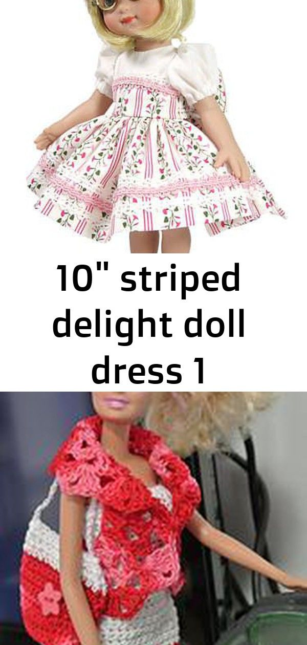 10 striped delight doll dress 1 #bridedolls