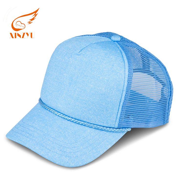 Wholesale custom 5 panel high quality curved brim blank mesh colorful  truker cap hats 2f2ebd756359