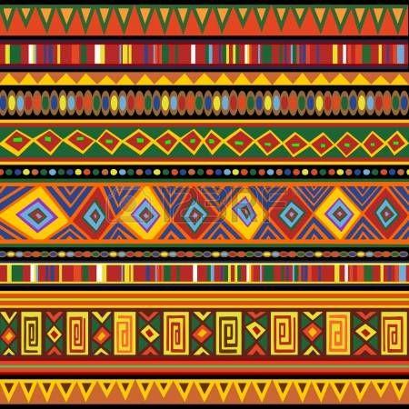 Ethnische Bunten Muster Afrika Kunst Musterkunst