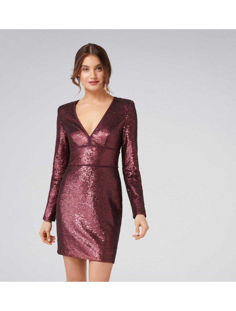 Katia sequin mini dress long sleeve sequin dress sequin