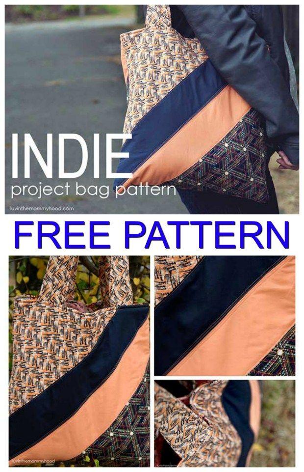 Indie Project Tote Bag Free Pattern Tote Bag Sewing Patterns