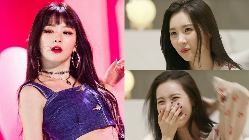 Sunmi is All of Us when Red Velvet`s Seulgi`s Fatal Part in [Bad Boy