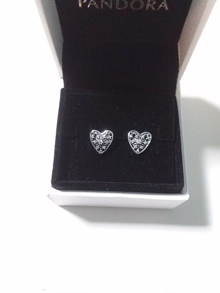 bc8796ce5 Pandora Hearts Of Winter Stud Earrings #296368CZ Sterling Silver Hearts  #PANDORA #Stud