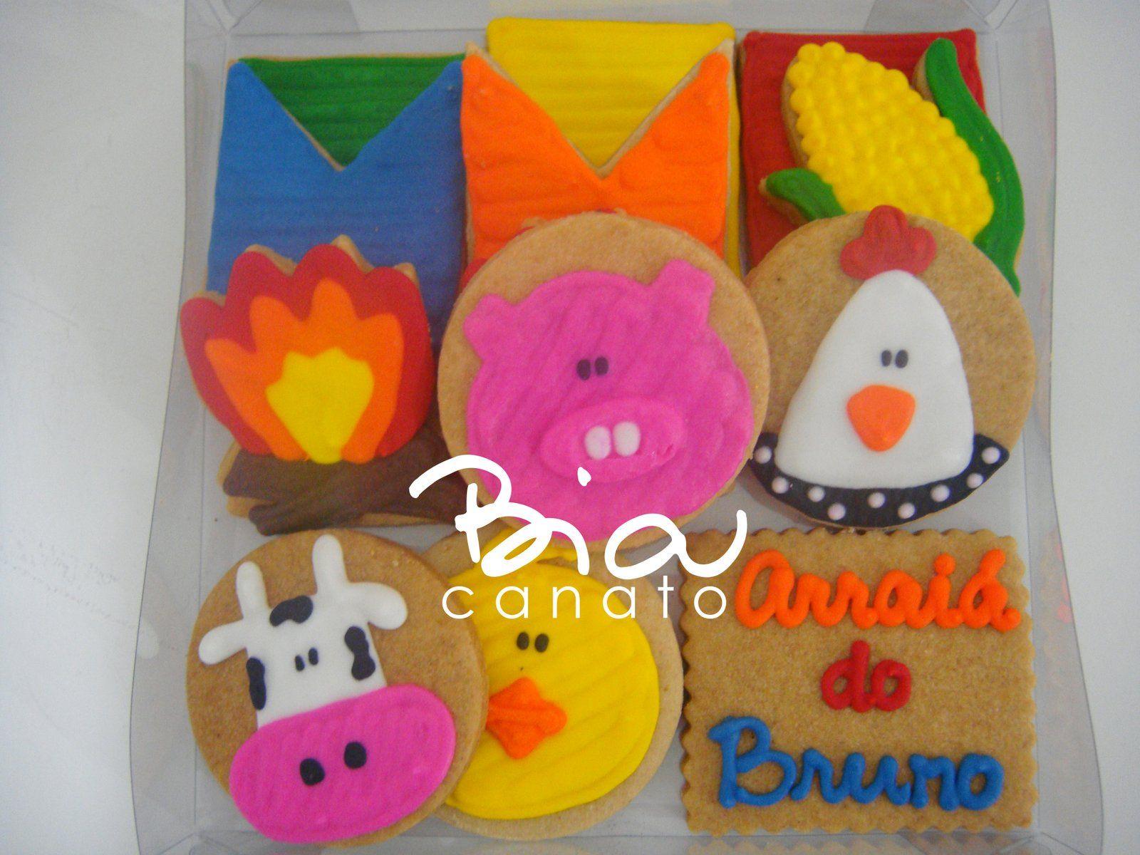 Biscoitos decorados super alegres