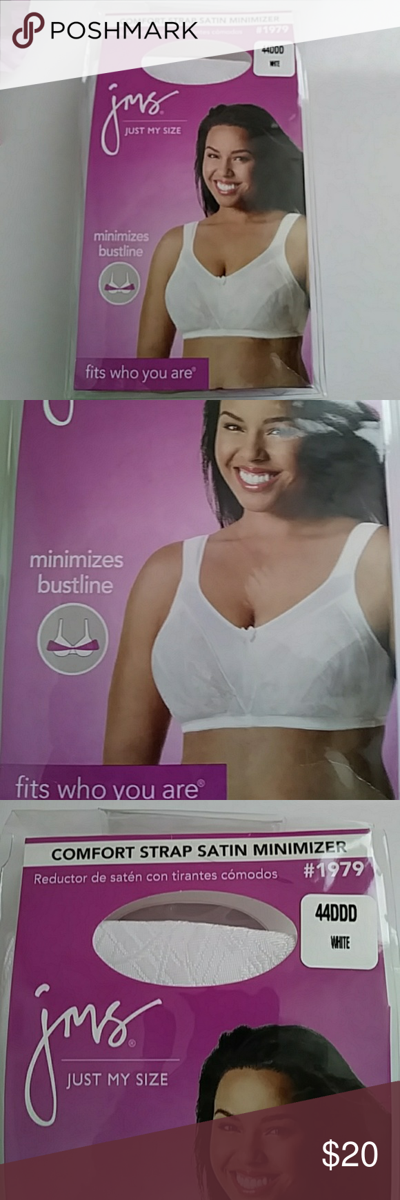 523972b31017e Just My Size JMS Satin Minimizer Bra Just My Size Comfort strap satin  minimizer. Minimizes