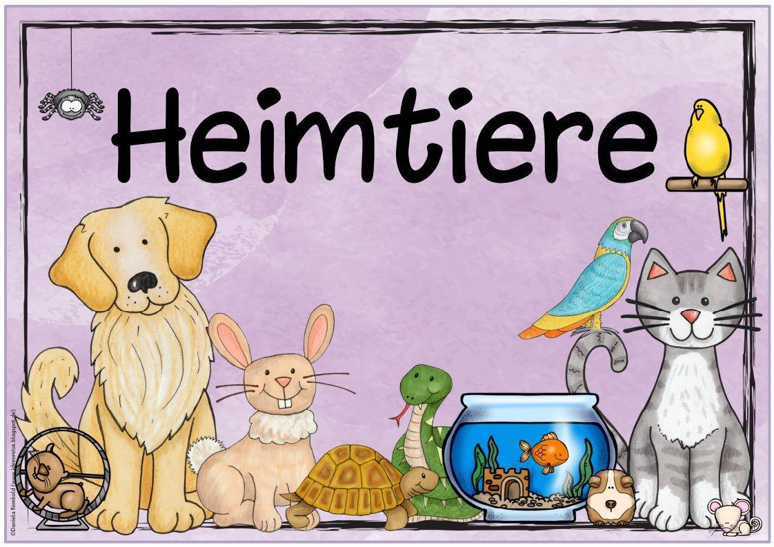 """Ideenreise Themenplakat """"Haustiere/Heimtiere"""" Heimtiere"""