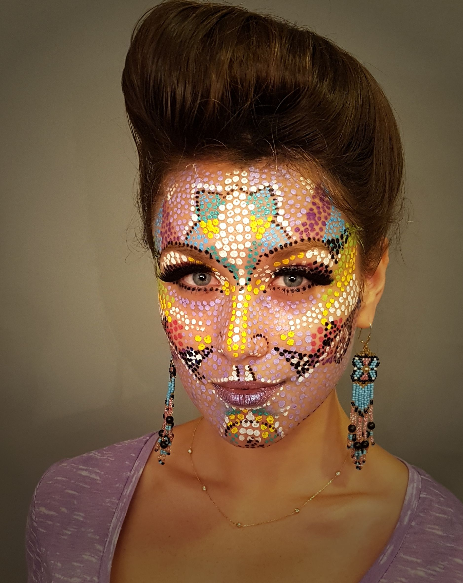 face painting points Purim or Halloween makeup ideas ...