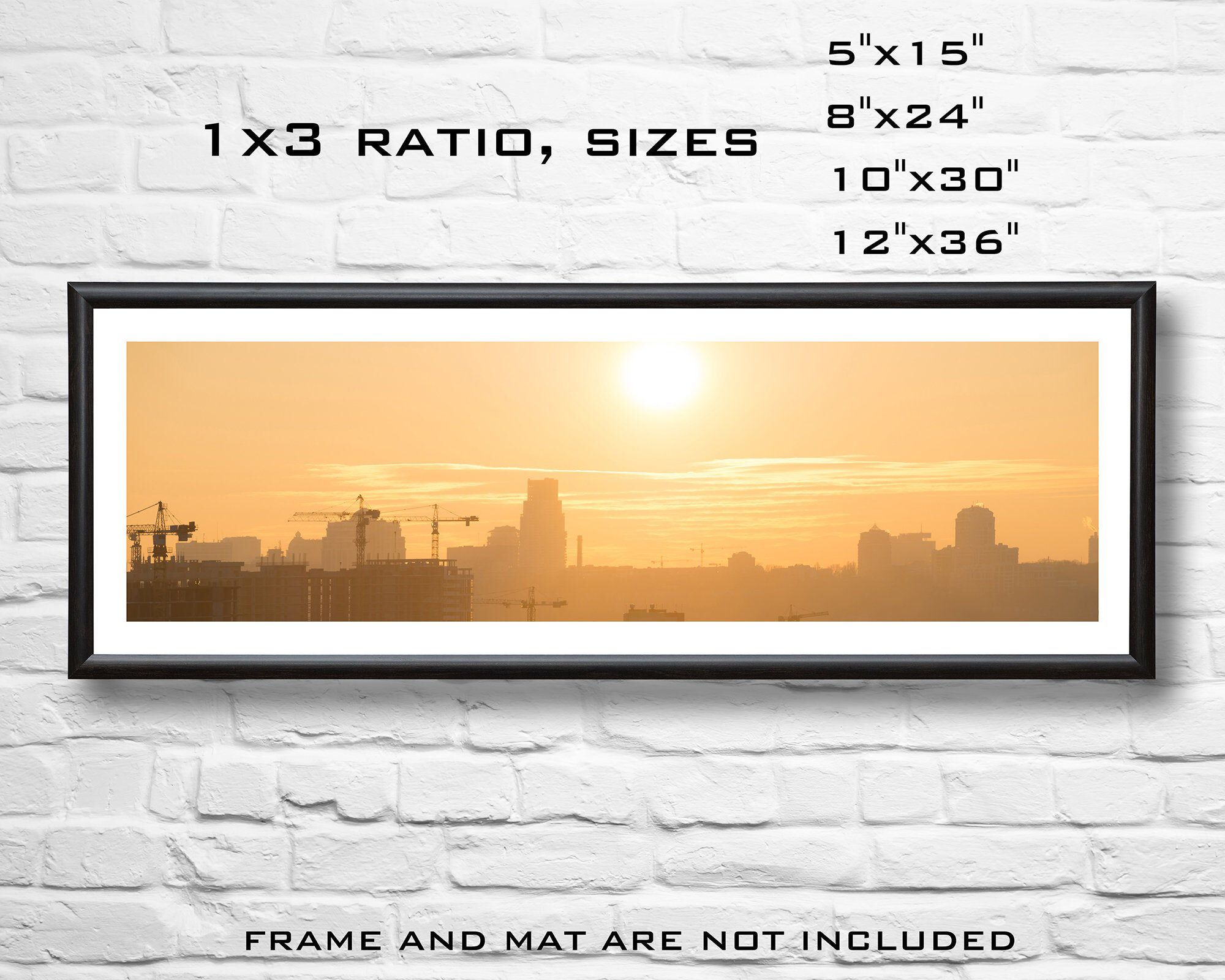 City Panorama Sunset Art Print City Print Photography Print Sunset Cityscape City Art Panorama Print Sunset Print Industrial Art Sunset Art City Prints Panoramic Print