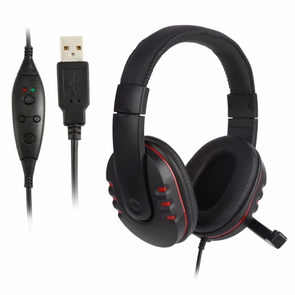 Handsfree Mic Headset Leather Usb Wired Stereo Micphone Headphone Original Dacom Armor G06 Sport Ipx5 Waterproof Music Wireless Bluetooth Gaming Earphones For Sony Ps3 Ps4 Pc Game Laptop Black New Price 2000 Device