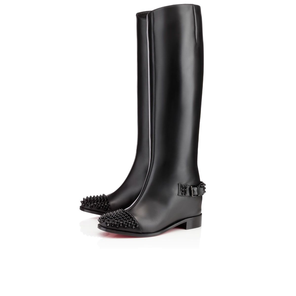 christian louboutin botte flat boots