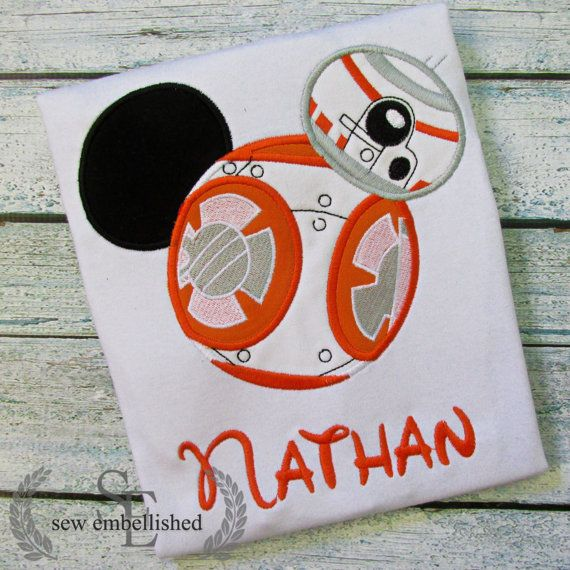 Hey, I found this really awesome Etsy listing at https://www.etsy.com/listing/276568320/bb8-star-wars-mickey-applique-shirt