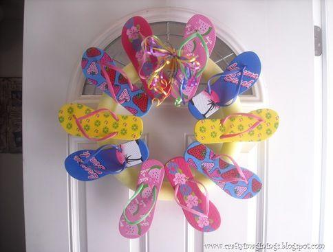 super cute and fun wreath for summer