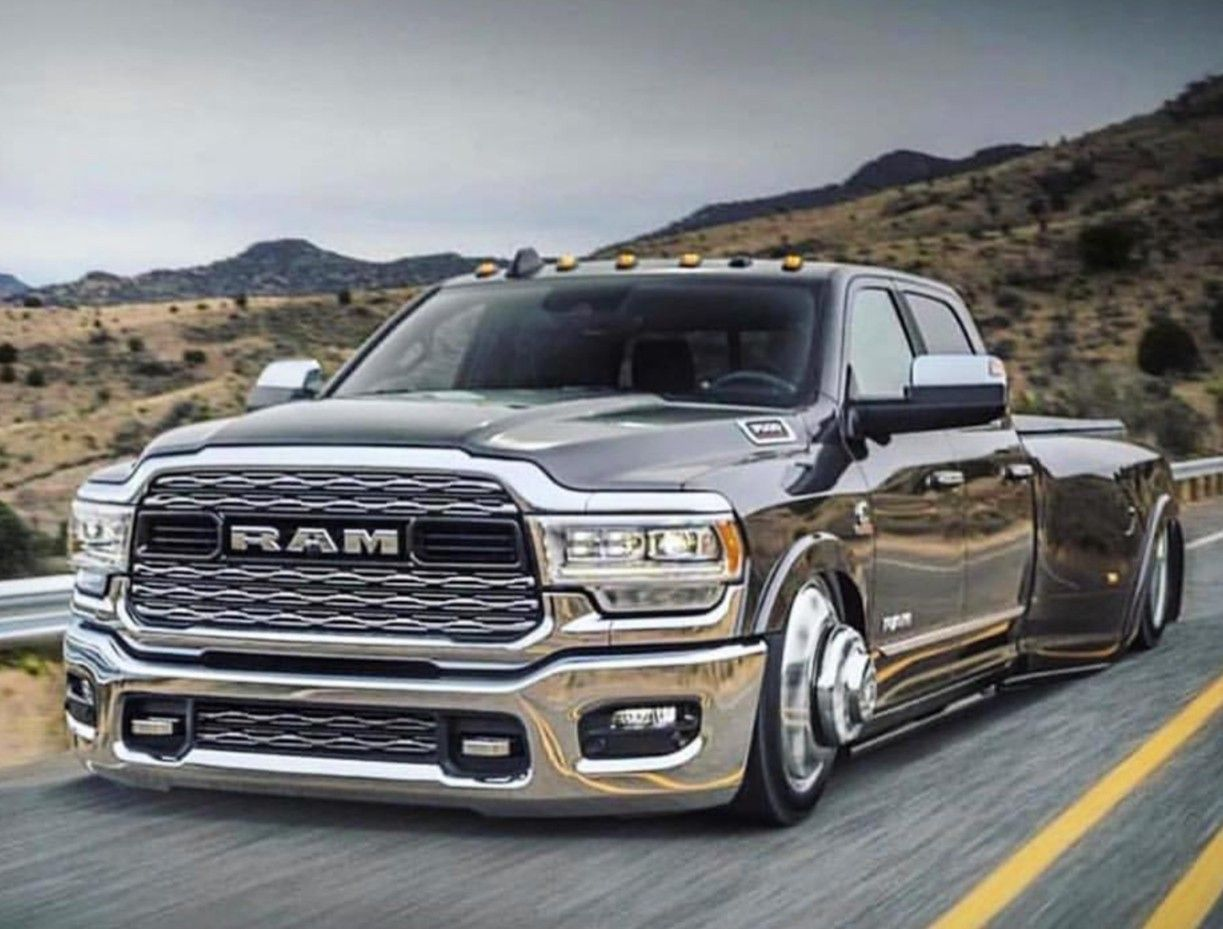 Bagged 2019 Dodge Ram Limited 3500 Dually Dodge Trucks Dodge Trucks Ram Lowrider Trucks