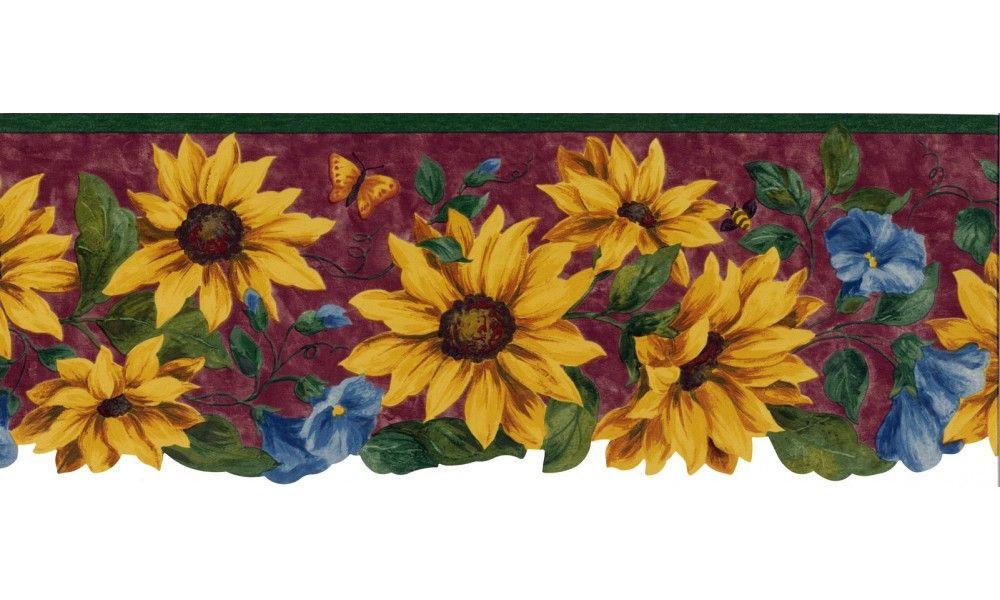 Floral Borders Sunflower Wallpaper Border 5810441