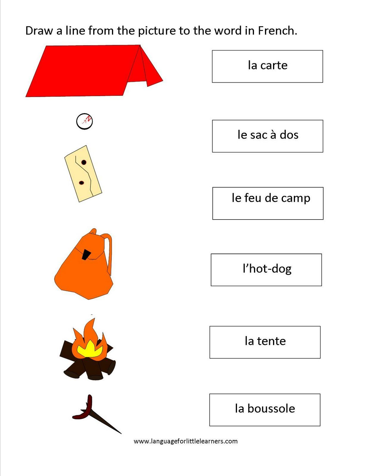 Camping Worksheet