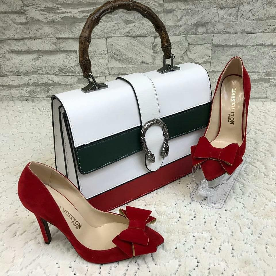 Photo of Straw Bag, Heeled Shoes Combine – 1741