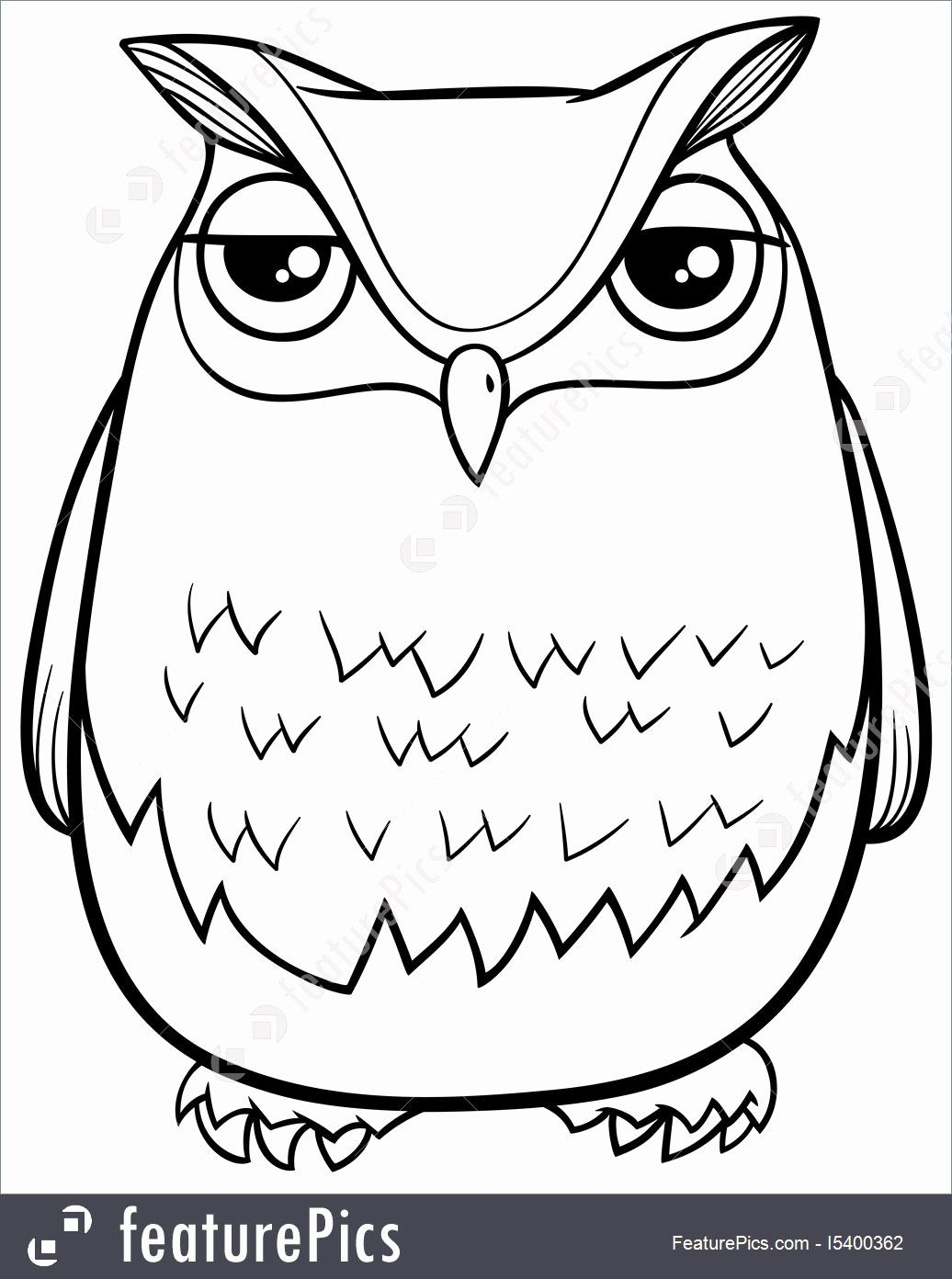 Coloring Cartoon Birds New Cartoon Owl Coloring Page Stock Illustration I At Featurepics Owl Coloring Pages Owl Cartoon Cartoon Birds