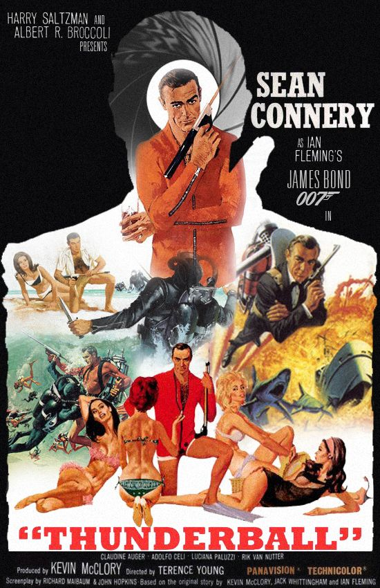 Thunderball Movie Thunderball Movie Poster By MadPorra - 15 amazing film locations from the james bond 007 franchise