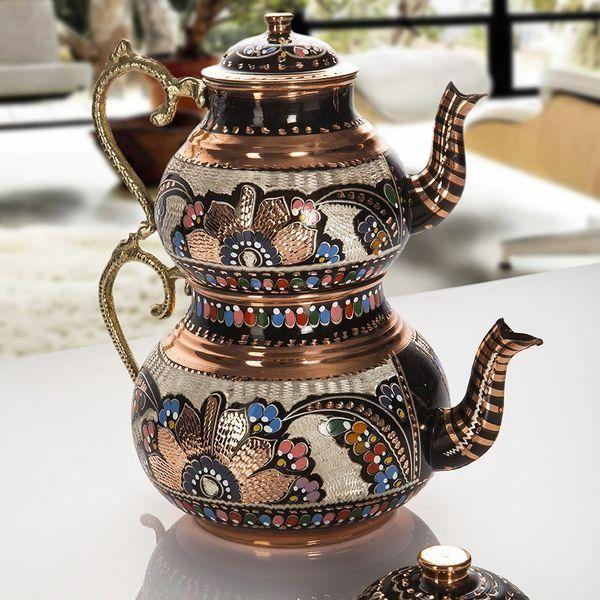 Handmade Original Copper Turkish Tea Pot Kettle   FairTurk.com