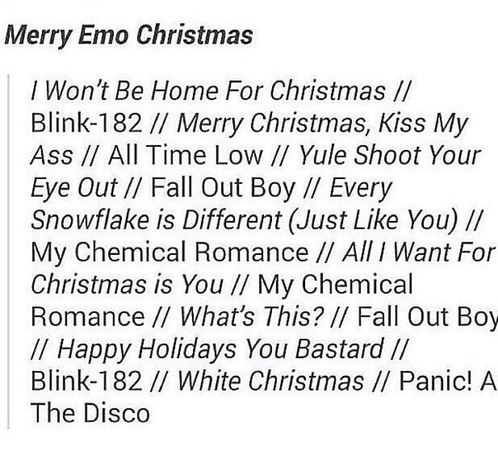 Emo Christmas Songs Emo Song Mood Songs Song Playlist