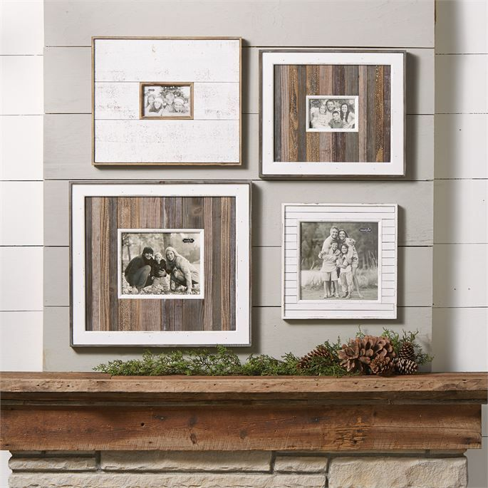 large white natural distressed frame distressed framesmudpielarge - Mud Pie Picture Frames