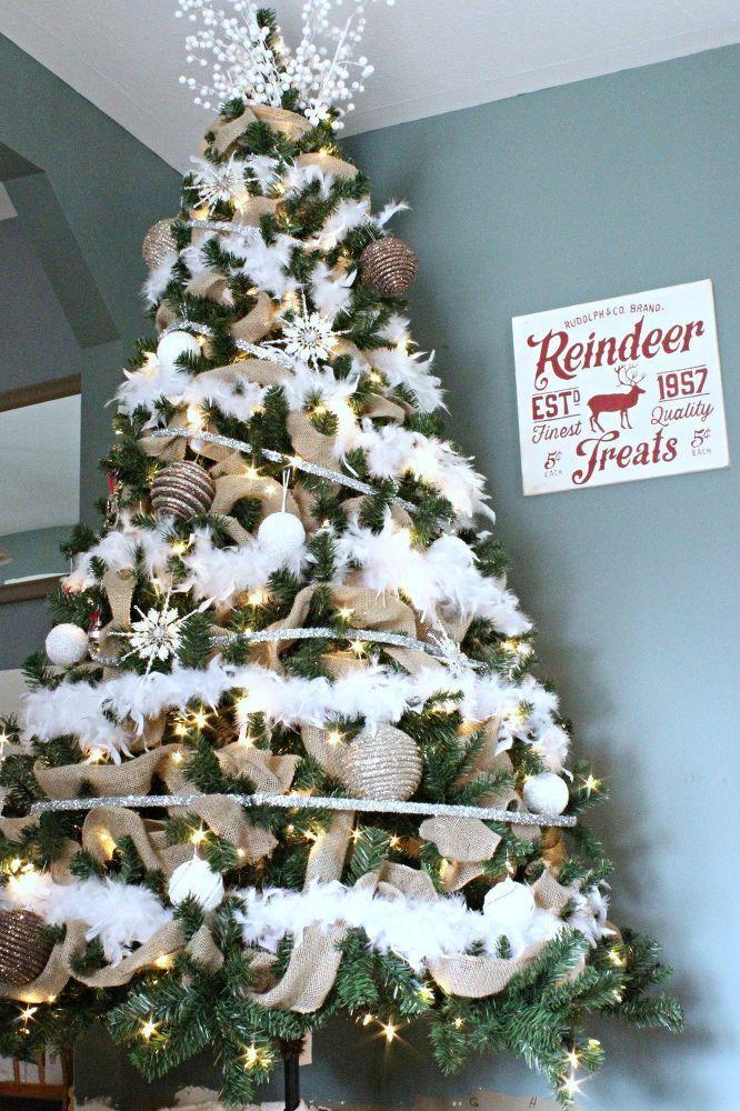 Diy Feather Boa Garland Christmas Tree Feathers Christmas Decorations Easy Christmas Diy