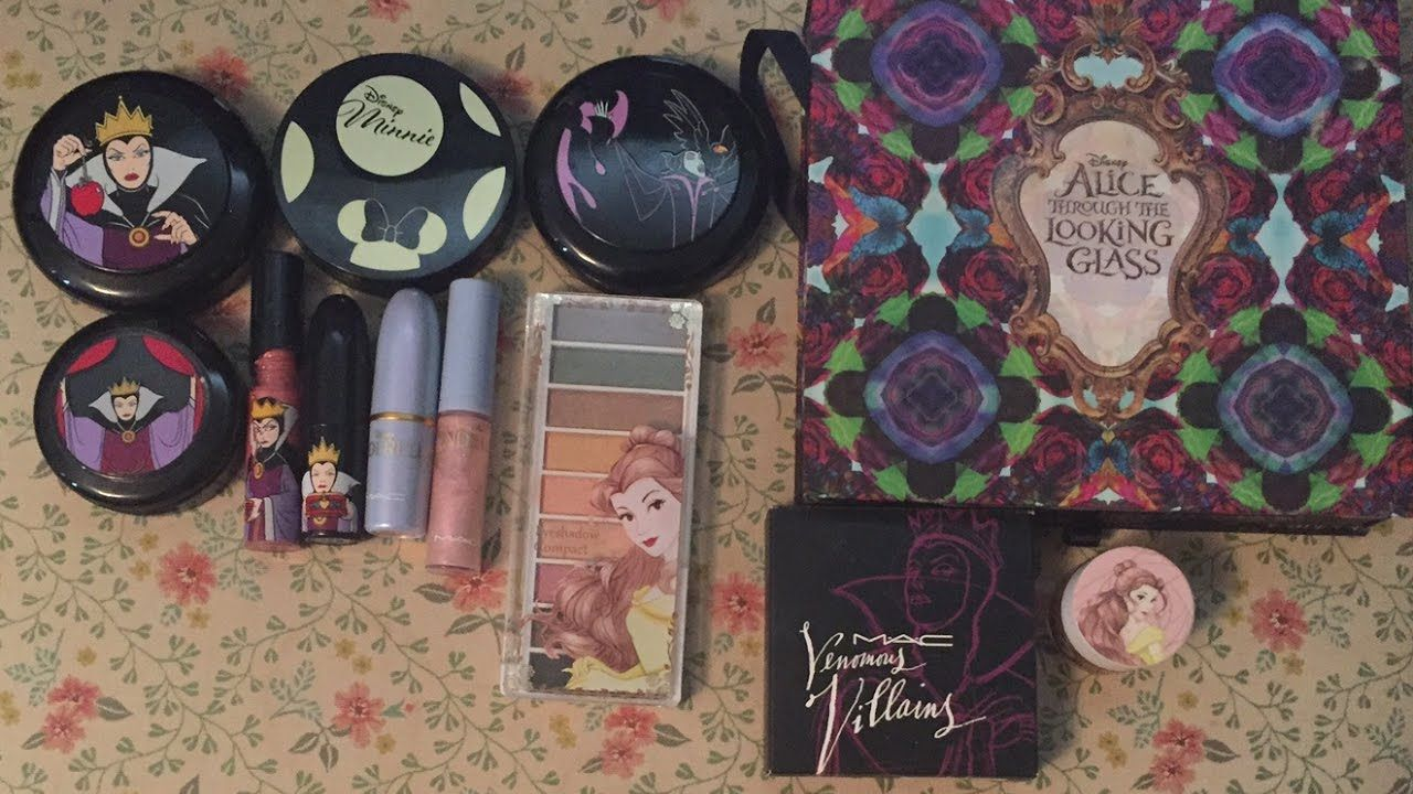 My Disney makeup collection MAC, Elf makeup, Urband decay
