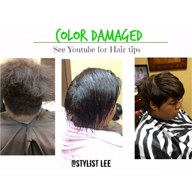 Hair transformation ! Color damaged hair .. See results. Be ...