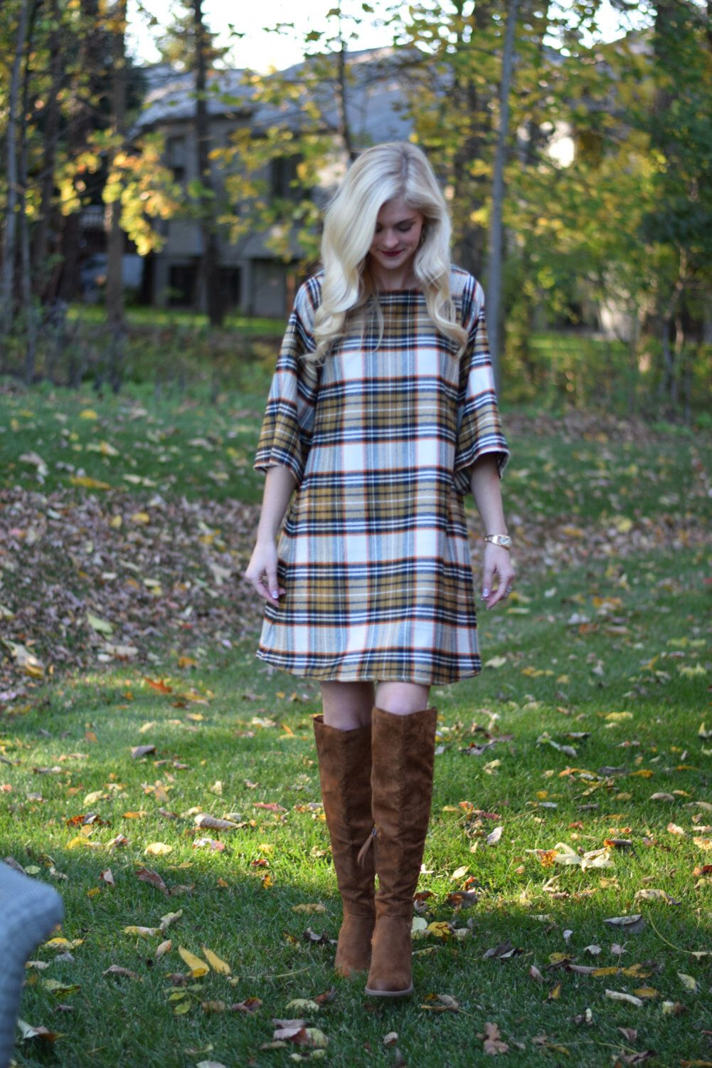 A personal favorite from my Etsy shop https://www.etsy.com/listing/488787083/plaid-flannel-dress