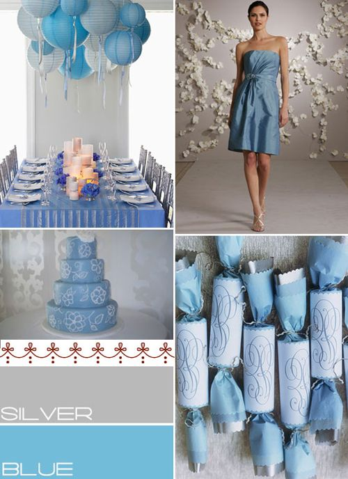Blue Silver Wedding Colours Palette Baby Pinterest Weddings Theme Ideas And Gray