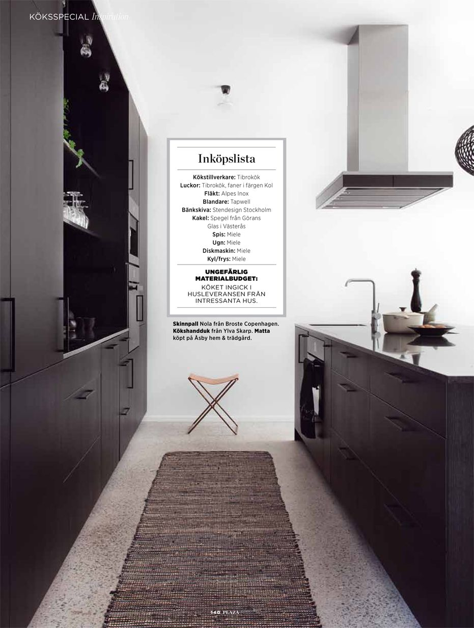 Villa Carlsson' in Plaza Interiör magazine | Kök | Pinterest | Villas