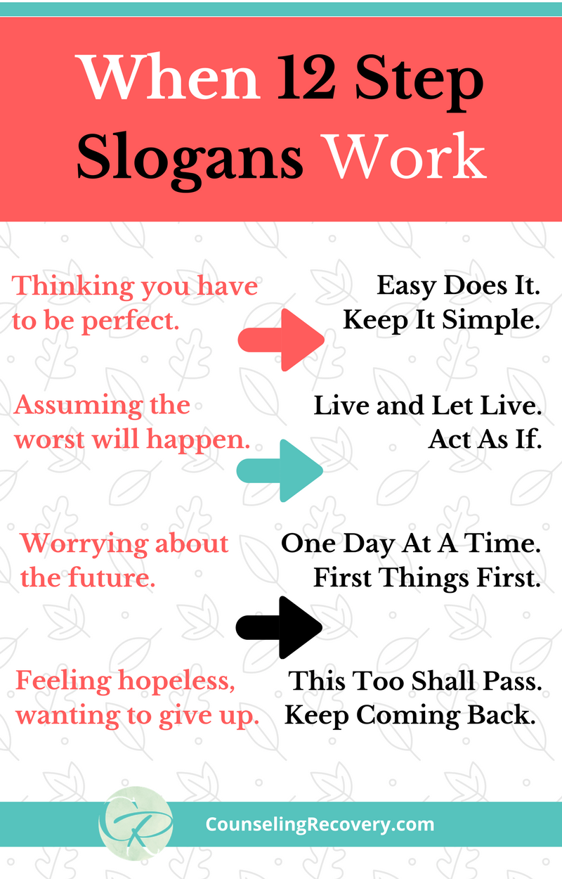 Worksheets Al Anon 12 Steps Worksheets how 12 step slogans work program recovery and slogan work