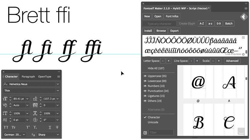 How to open fonts in photoshop
