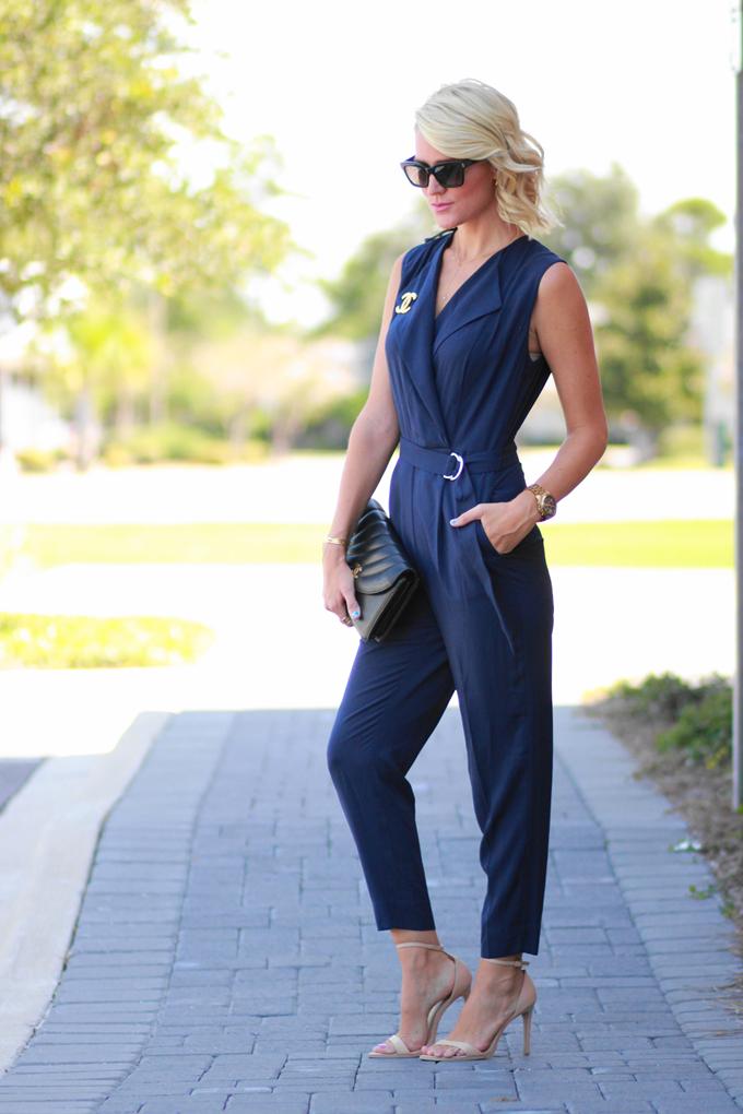 a9ded8bdf27 Belle de Couture  Navy Jumpsuit  hm  vintage  chic  chanel