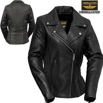 Womens Leather Jacket Original Motorcycle Motorbike Scooter Cafe racer Slim Fit …