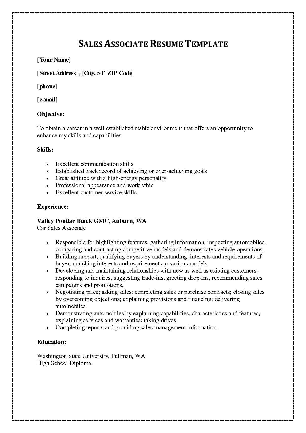 Write Winning Sales Resume Steps Writing Services Associate