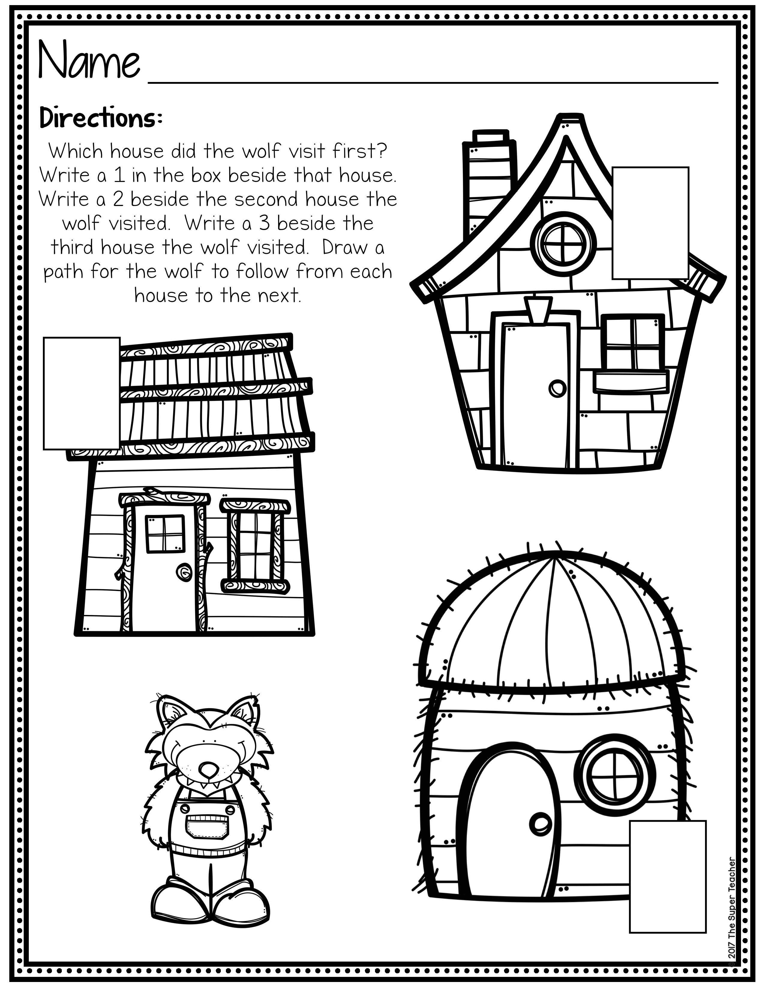 Simple Story Elements Made Practical And Fun Three Little Pigs Three Little Pigs Story Character Worksheets [ 3300 x 2550 Pixel ]