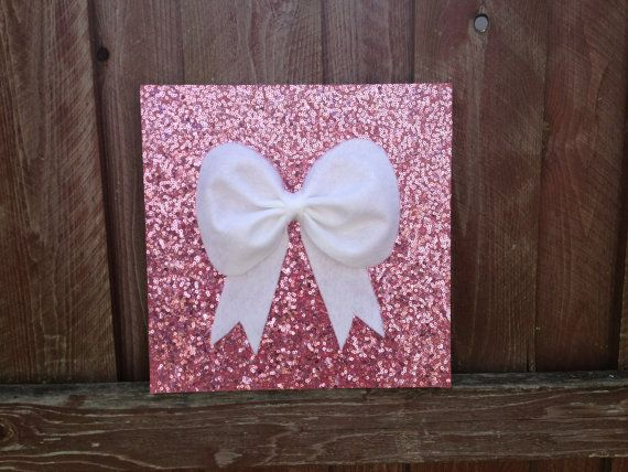 Pink Sequence, Bow, Wall Hanging, Wall Decor, Decoration, Room Decor,  Childrenu0027s Room