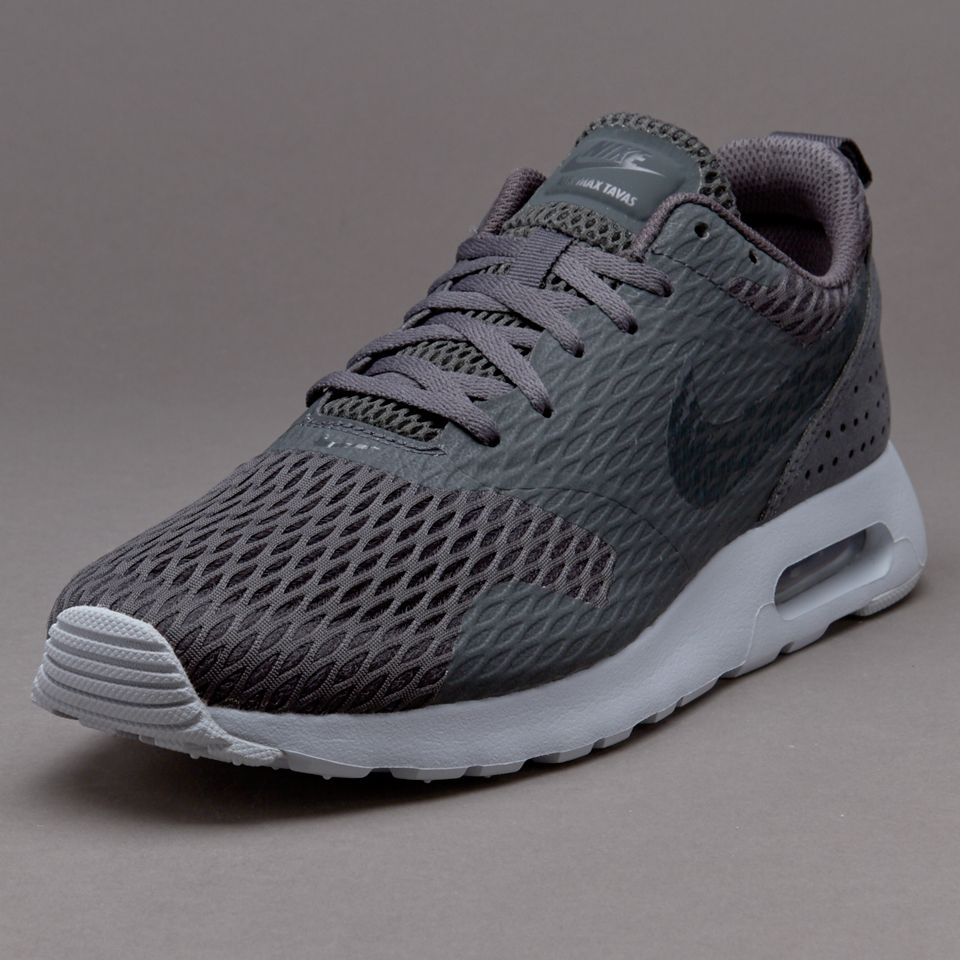 mens nike navy & grey air max tavas trainers methodology