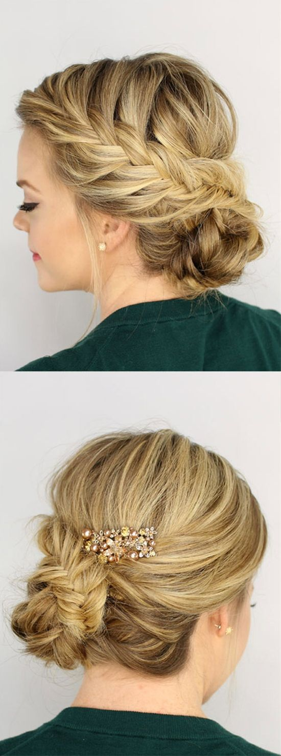 gorgeous braided updos you must try medium long hair medium