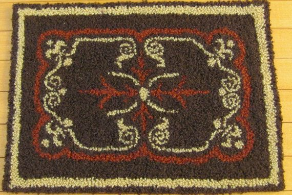 1/6 Scale Dollhouse Miniature Rug for dolls by MiniRugs on Etsy