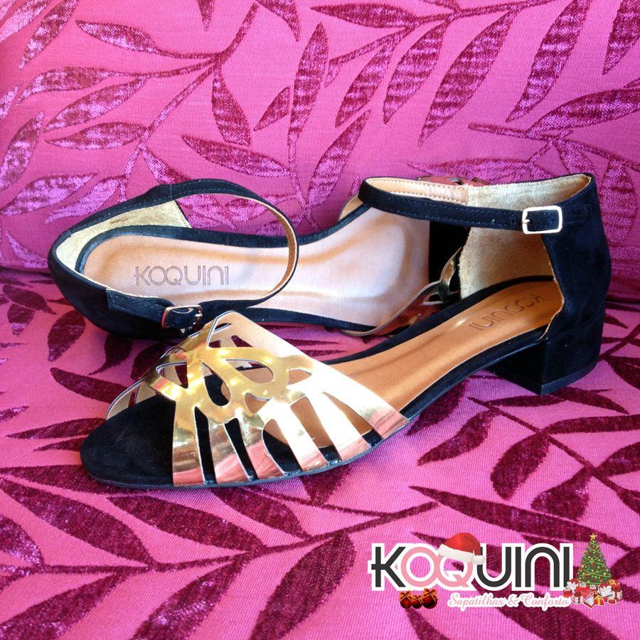 Bom Dia Koquinas! Um sábado dourado e cheio de charme pra vocês. Compre online: http://koqu.in/IHXb1z #koquini #sapatilhas #euquero #saltinho
