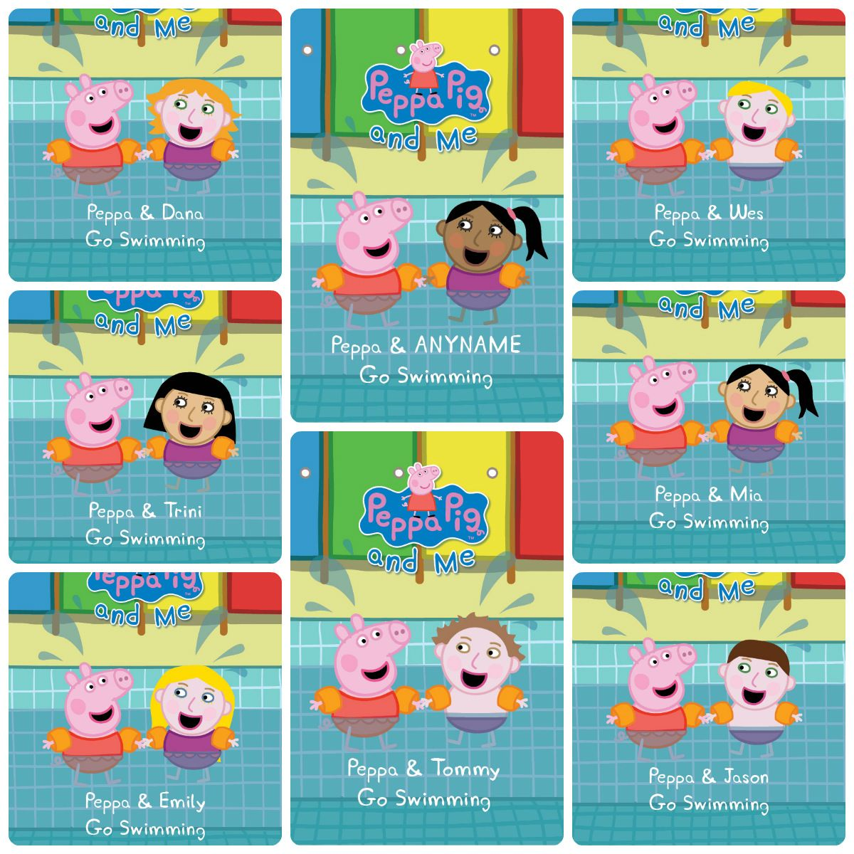 Include Any Name And Illustration And Star With Peppa Pig In Your