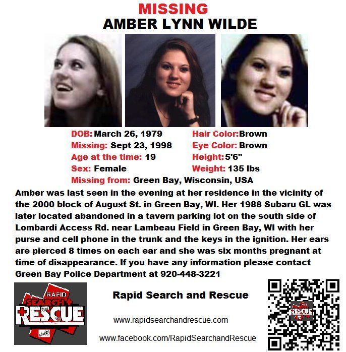Current Missing Person flyers from Wisconsin in the 1990s To