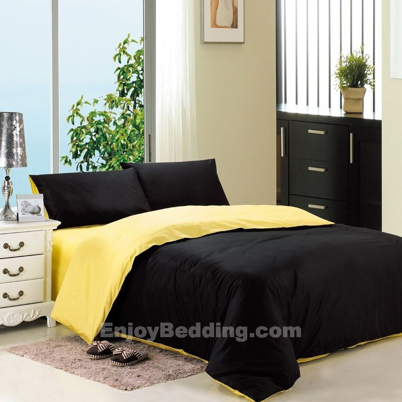 Teen boy bedding black and yellow bedding sets wesley 39 s bedroom ideas for Black white and yellow bedroom